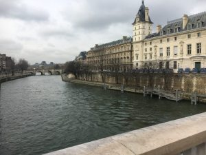 The turbulent waters of the Seine.